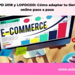 RGPD 2018 y LOPDGDD: Cómo adaptar tu tienda on line paso a paso
