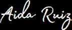 Aida Ruiz - Logo Blanco