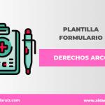 Derechos ARCO: Plantilla para crear el formulario