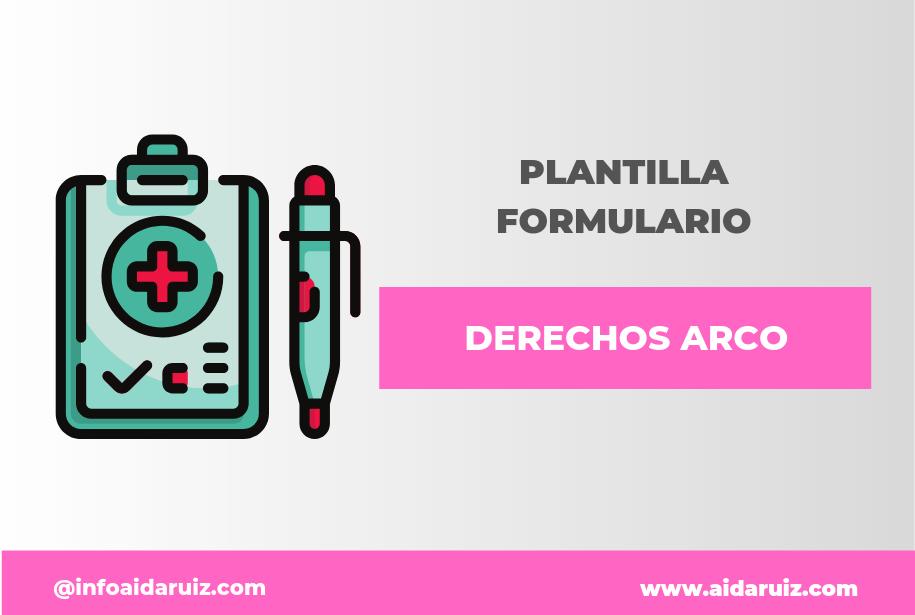 Plantilla derechos ARCO